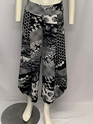 Printed Soft Knit Cowl Pant PRINT 2