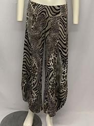 Printed Soft Knit Cowl Pant PRINT 3