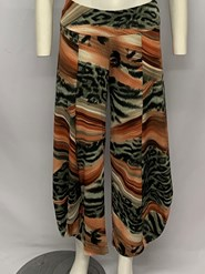 Printed Soft Knit Cowl Pant PRINT 4