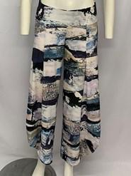 Printed Soft Knit Cowl Pant PRINT 5
