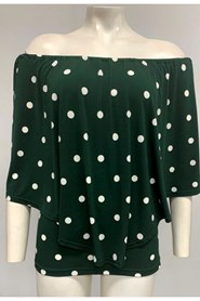 Demi Overlay Top - Green Spot