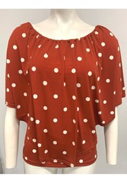 Demi Overlay Top - Rust Spot
