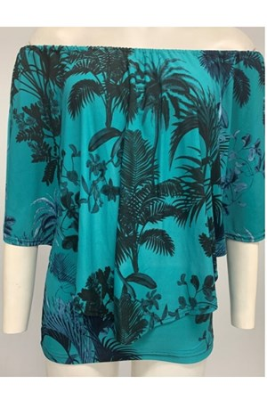 Demi Overlay Top - Palm