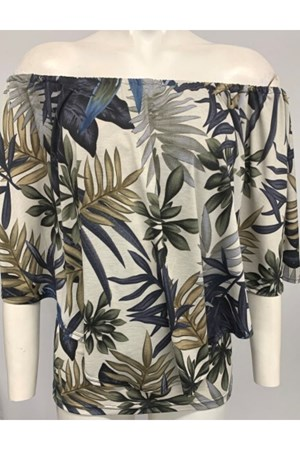 Demi Overlay Top - Leaf Print