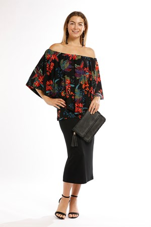 Demi Overlay Top - Floral