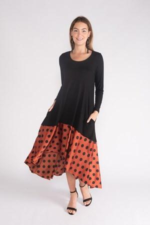 Jersey Spot Trim Dress