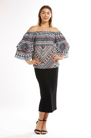 CDC Off The Shoulder Top With Double Frill