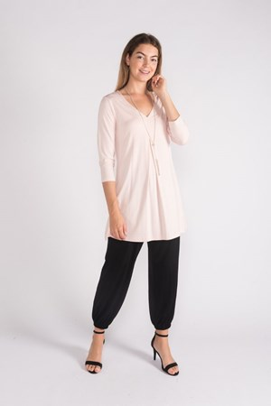 Swing Knit Top - Baby Pink