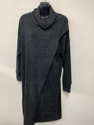 Woolly Knit Tunic CHARCOAL