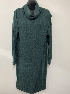Woolly Knit Tunic DARK GREEN