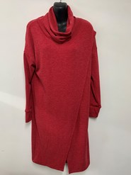 Woolly Knit Tunic RED