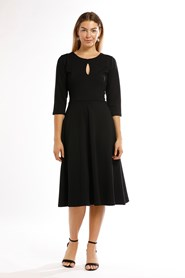 12008 Key Hole Ponti Dress