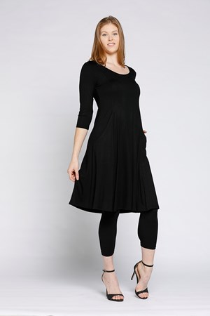 12019 BLACK TUNIC DRESS