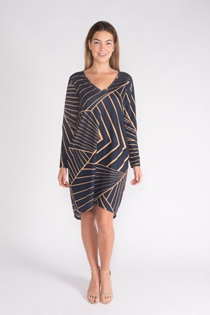 LIMITED PRINTED PONTI HIGH LOW TUNIC