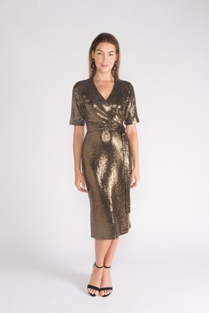 12040 Bronze Sequin Dress