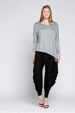 Bamboo Angle Hem Top CLICK TO SEE COLOURS AVAILABLE