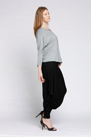 Bamboo Pants with Twist Detail