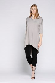 Bamboo Cowl Neck High Low Tunic CLICK TO SEE COLOURS AVAILABLE