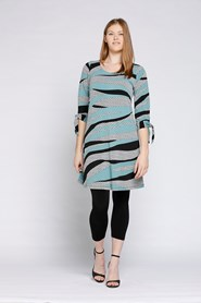 Printed Soft Knit Dress