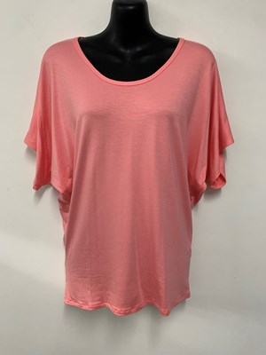 Kim Batwing T Shirt CORAL