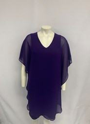 CHIFFON OVERLAY DRESS PURPLE