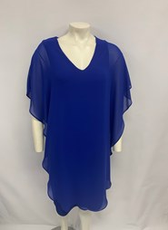 CHIFFON OVERLAY DRESS ROYAL BLUE