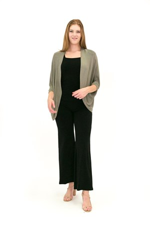 SOLD OUT Light Weight Knit Shrug KHAKI