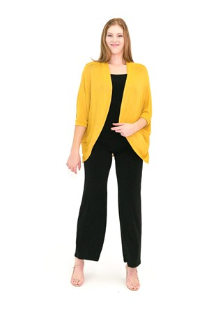 SOLD OUT Light Weight Knit Shrug MUSTARD
