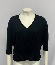Twist Front Bamboo Top BLACK