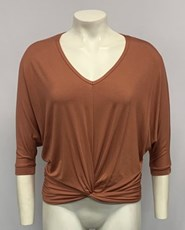 Twist Front Bamboo Top RUST