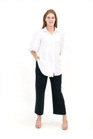Rosie Rayon Shirt with puff sleeve
