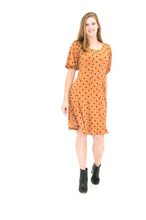 Spot Print Dress in Soft Knit