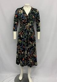 Bree Button Front Dress NAVY PRINT