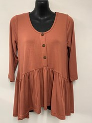 Penny Bamboo Top RUST