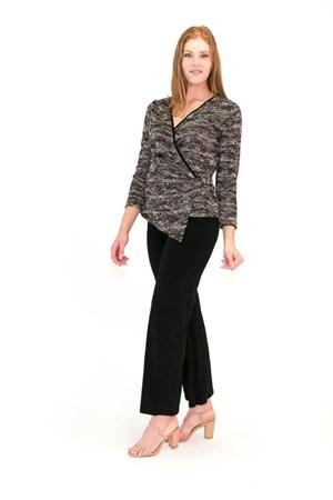 Lacey Stretch Lace Faux Wrap Top