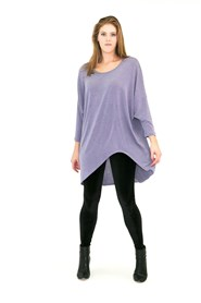 High Low Woolly Knit Jumper LILAC