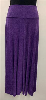 Woolly Knit Skirt GRAPE