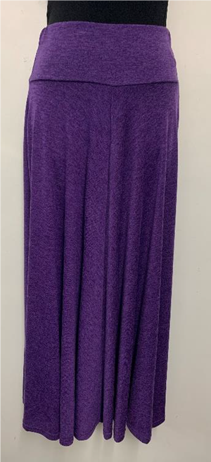 Woolly Knit Skirt GRAPE