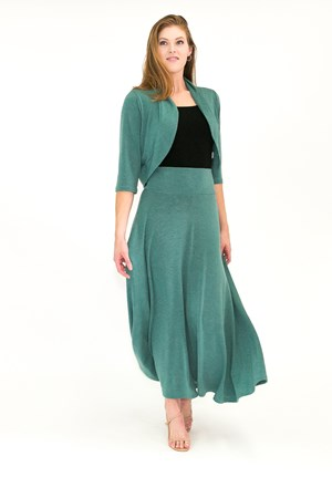 Woolly Knit Skirt GREEN