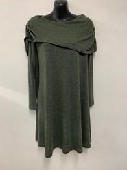 Emma Shawl Woolly Knit Dress/Tunic KHAKI