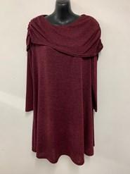 Emma Shawl Woolly Knit Dress/Tunic WINE