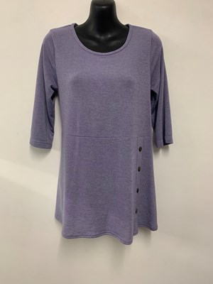 Suzie Knit Top with button detail LILAC