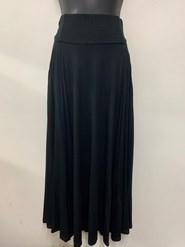 Tabitha Flare Skirt With Pockets BLACK