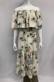 Sam Woven Frill Dress Print 1