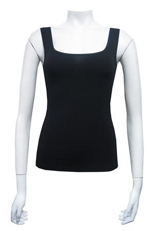 Soft knit singlet with wide straps