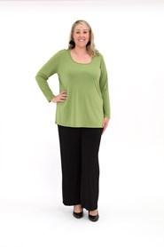 Soft knit long sleeve tunic SARI GREEN