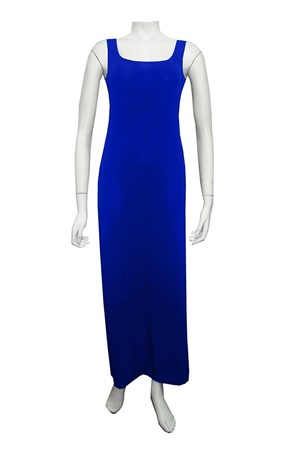 ROYAL - Soft knit thick strap maxi dress