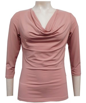 BLUSH - Cowl 3/4 sleeve top