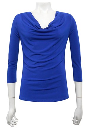 ROYAL - Cowl 3/4 sleeve top