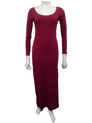 BERRY - Soft knit long sleeve maxi dress